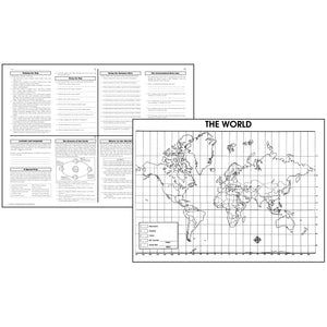 (3 Ea) Activity Posters The World 30 Per Pk Gr 4-8