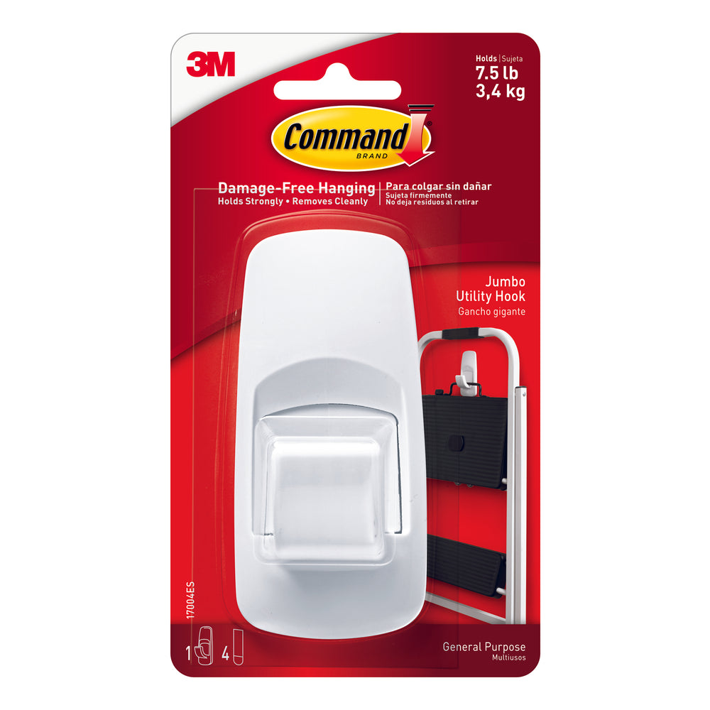 Command Adhesive Reusable Jumbo Hook