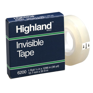 Highland Invisible Tape 1-2x1296in