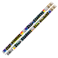 (12 Dz) Star Student Motivational Fun Pencils 12 Per Pk