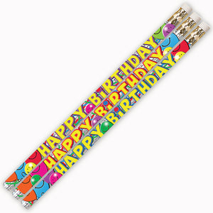 Birthday Bash 144pk Motivational Fun Pencils