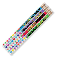 (12 Dz) Super Reader Motivational Fun Pencils 12 Per Pk