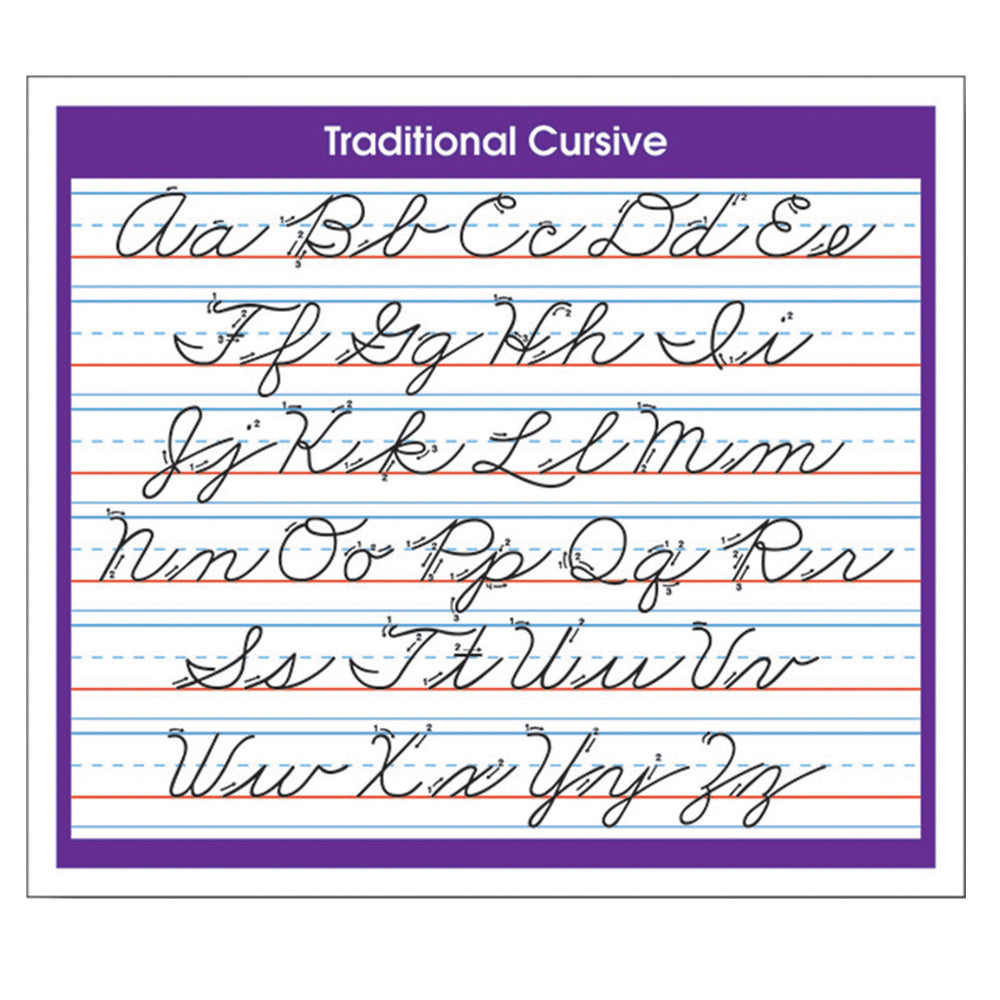 Desk Prompts Traditional Cursive Adhesive