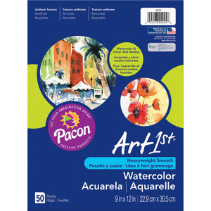 (3 Pk) Art1st Watercolor Paper 9x12