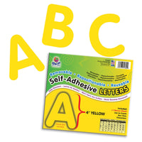 (2 Pk) Self Adhesive Letter 4in Yellow