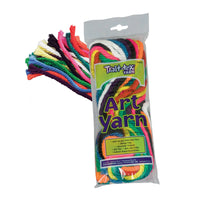 (3 Ea) Art Yarn 10 Bright Colors 50ft Per Pk