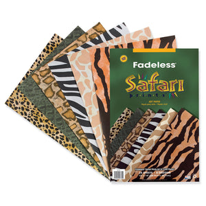(2 Pk) Fadeless Embossed Safari 24sht Per Pk 12x18 Asst Prints