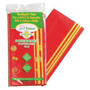 (6 Pk) Art Tissue 20x30 Warm Colors 20shts Per Pk