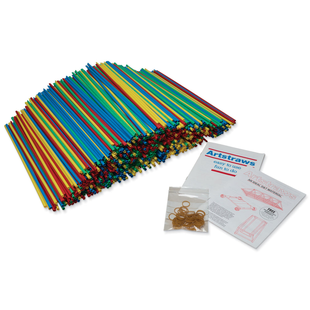 4mm Colored Artstraws 1800 Count