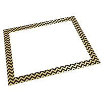 Foil Poster Board Gold-black Chevrn 25-ct
