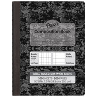 (6 Ea) White Page Dual Ruled Composition Book