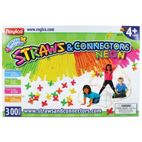 Straws & Connectors 300 Pieces Neon Colors
