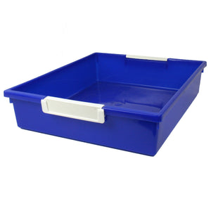 (3 Ea) 6qt Blu Tattle Tray Wlabel Holder