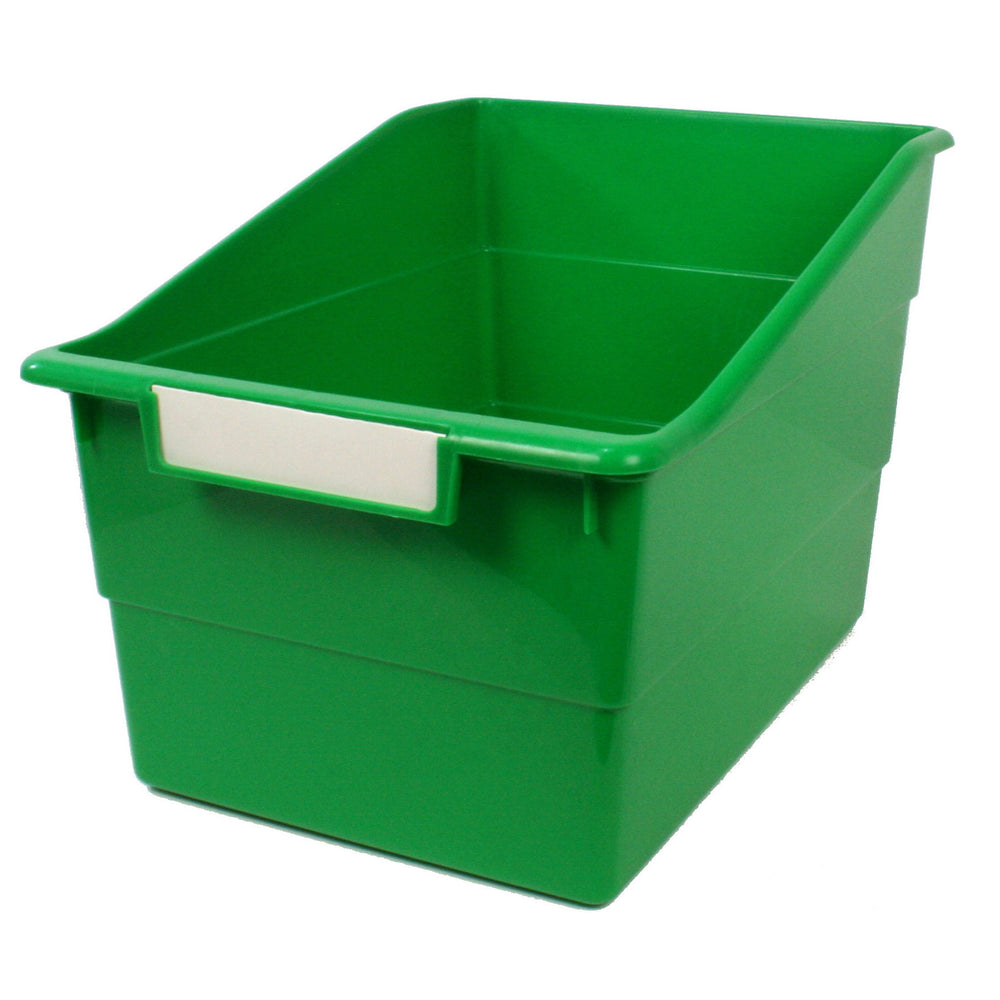 (3 Ea) Wide Green File With Label Holder