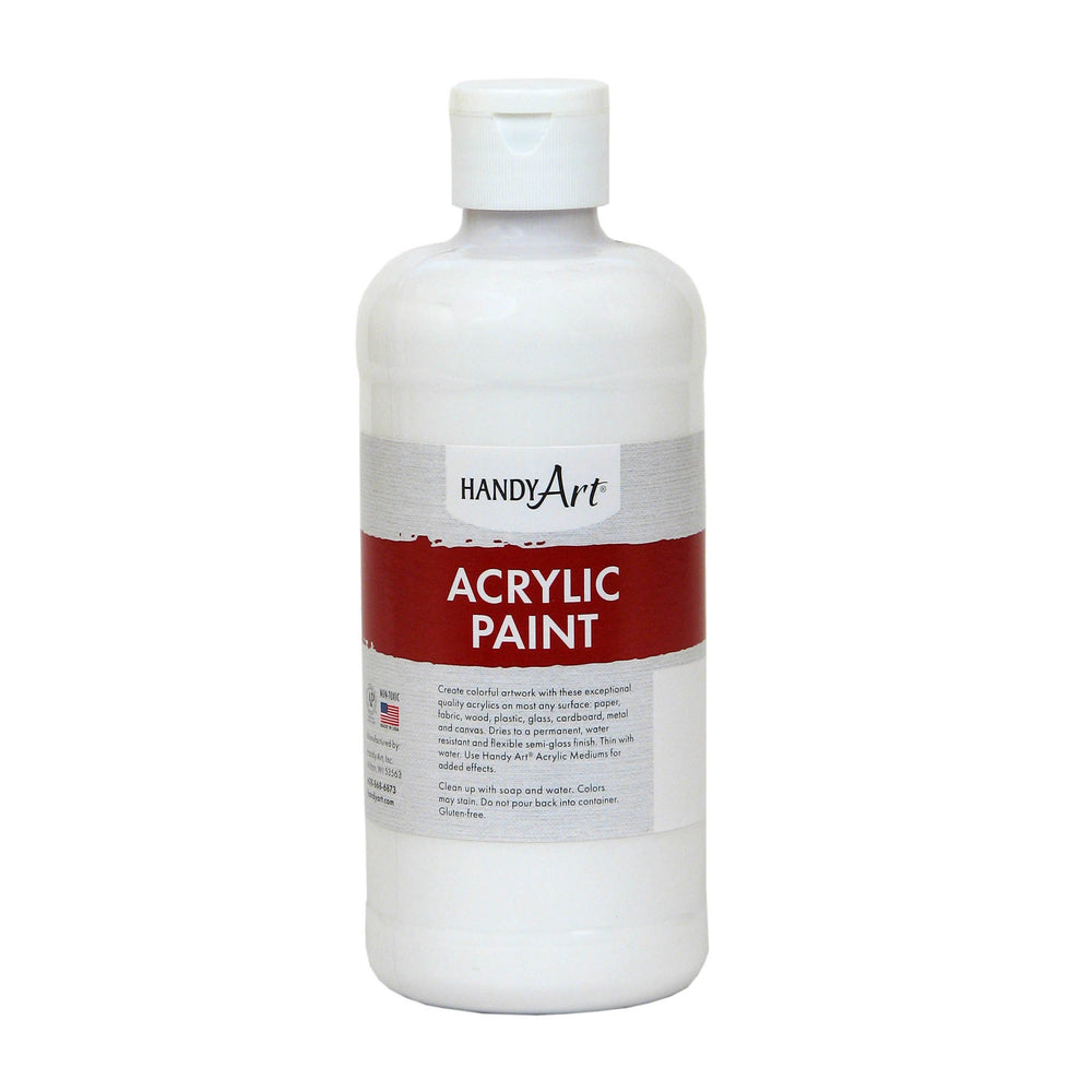 (3 Ea) Acrylic Paint 16 Oz Titan White