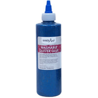 Washable Glitter Glue 8 Oz Blue Handy Art