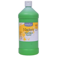 (6 Ea) Tempera Paint Quart Light Green Little Masters