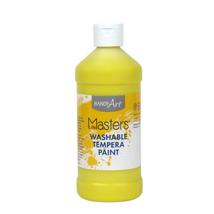 (12 Ea) Little Masters Yellow 16oz Washable Paint