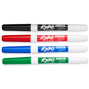 Expo2 Low Odor Dry Erase 4 Color Marker Set Fine Tip