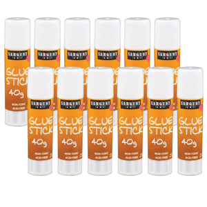 (12 Ea) 40 Gram Glue Stick 1.41oz