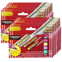 (12 Bx) Liquid Metals Metallic Washable Markers 6 Per Box