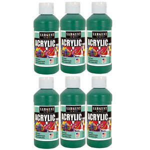 (6 Ea) Acrylic Paint 8 Oz Green