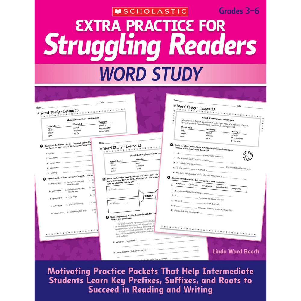 Struggling Readers Word Study Extra Practice