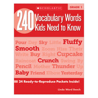 240 Vocabulary Words Kids Need To Know Gr 1