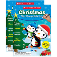 (2 Ea) Christmas Wipe-clean Activity Book