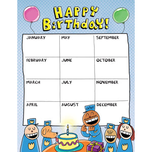Dog Man Birthday Chart