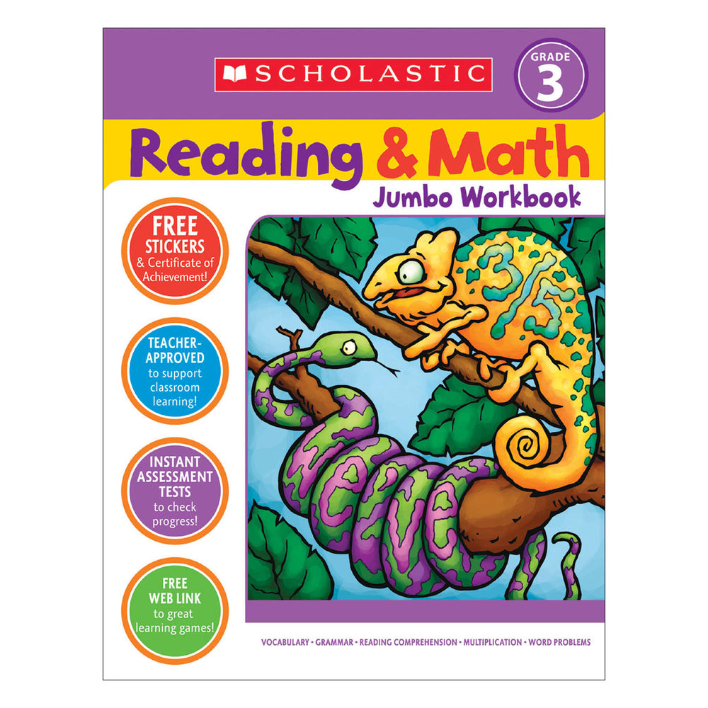 Reading & Math Jumbo Workbk Grade 3