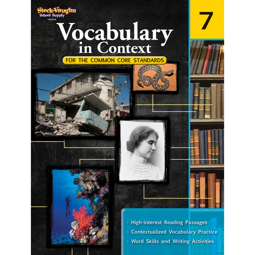 Gr 7 Vocabulary In Context For The Common Core Standards