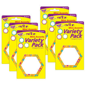 (6 Pk) Color Harm Hexa-swirls Mini Accents Variety Pack