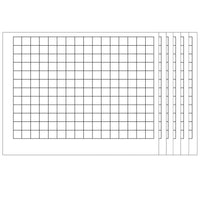 (6 Ea) Wipeoff Chart Graphing Grid 1-1-2 Inch Squares 22 X 28