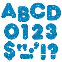 (3 Pk) Ready Letters 4in Casual Blue Sparkle
