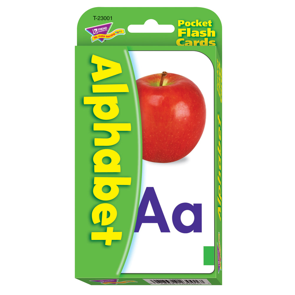 Pocket Flash Cards Alphabet 56-pk 3 X 5 Two-sided Cards