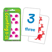 (12 Pk) Pocket Flash Cards 3x5 Counting 0-25 2-sided Crds 56-pk