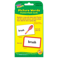 (12 Ea) Pocket Flash Cards Picture 56 Per Pack Words Two-sided Cards
