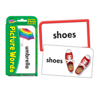 Pocket Flash Cards Picture 56-pk Words 3 X 5 Two-sided Cards