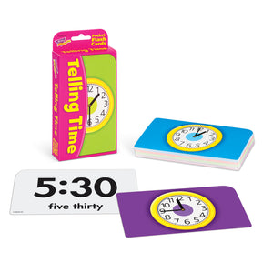 Pocket Flash Cards Telling Time 56-pk 3 X 5 Two-sided Cards