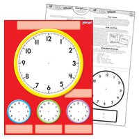(12 Ea) Clocks Wipe Off Chart 17x22