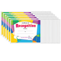 (6 Pk) Certificate Of Recognition Colorful 30 Per Pk