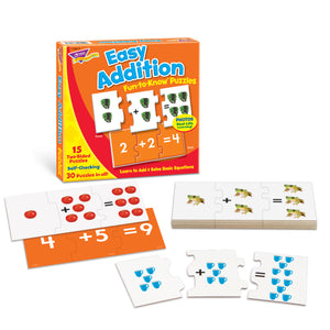 (3 Ea) Easy Addition Puz Fun-to Know Puzzles