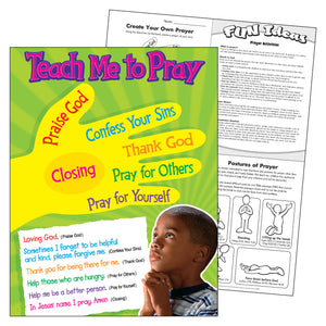 (6 Ea) Teach Me To Pray Learning Chart