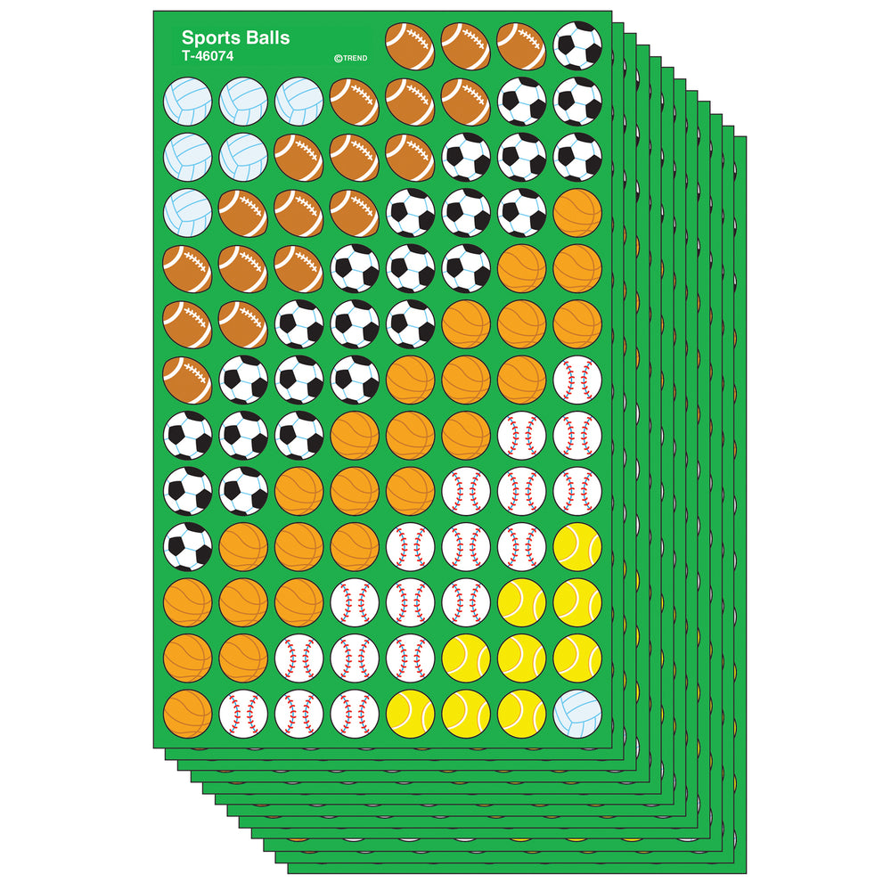 (12 Pk) Supershapes Stickers Sports Ball