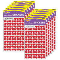 (12 Pk) Supershapes Red Sparkle Hearts 400 Per Pk