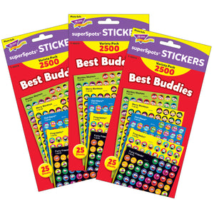 (3 Pk) Best Buddies Collection Superspots Stickers Variety Pk