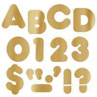 (3 Pk) Ready Letters 4in Casual Metallic Gold