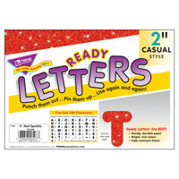 (6 Pk) Ready Letters 2in Casual Red Sparkle