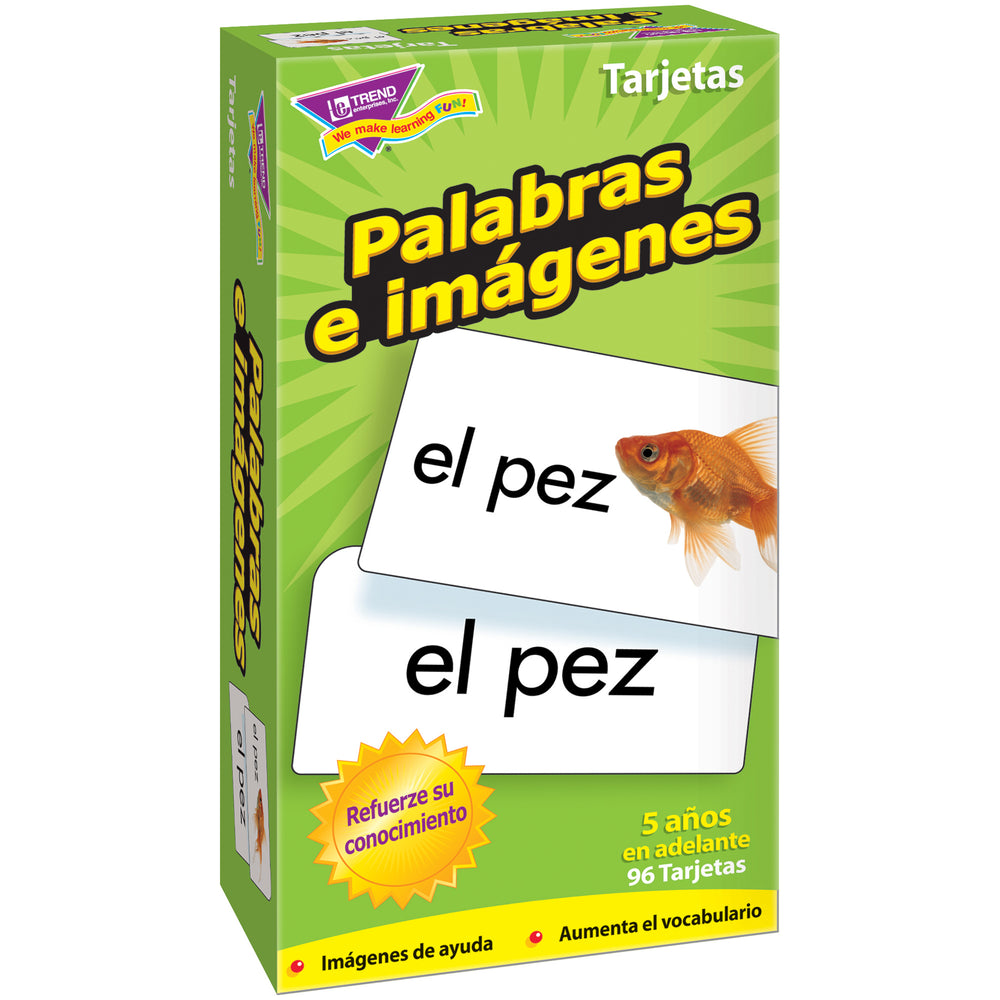 (3 Pk) Flash Cards Palabras E 96 Box Imagenes